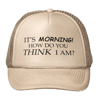It's Morning, How Do You Think I Am? Trucker Hat