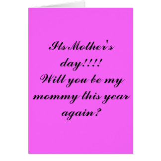 Its Mother's day!!!! Card