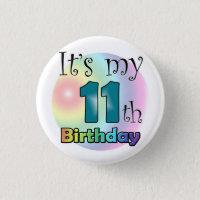 It's my 11th Birthday (Blue)