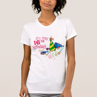 It's My 16th Birthday (Party Hats) Tee Shirt