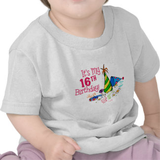 It's My 16th Birthday (Party Hats) T-shirts