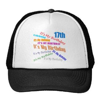 It's My 17th Birthday Gifts Trucker Hat