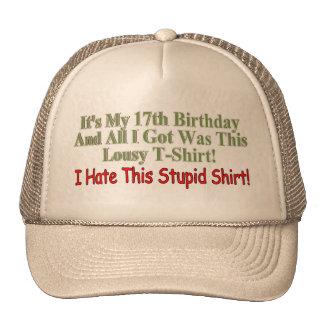 Its My 17th Birthday Gifts Trucker Hat