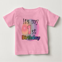 It's my 1st birthday (girl) baby T-Shirt