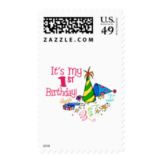 It's My 1st Birthday (Party Hats) Postage Stamps