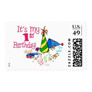 It's My 1st Birthday (Party Hats) Postage