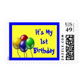 It's My 1st Birthday Postage Stamp