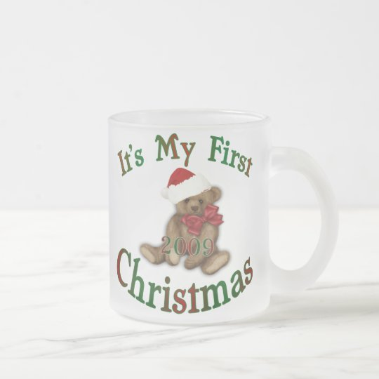 Its My 1st Christmas Frosted Glass Coffee Mug