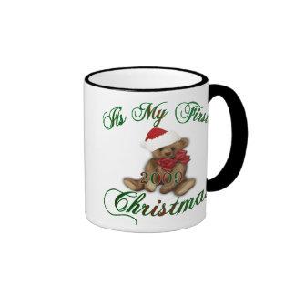 Its My 1st Christmas Ringer Coffee Mug