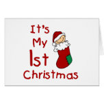 It's My 1st Christmas T-shirts and Gifts Greeting Card