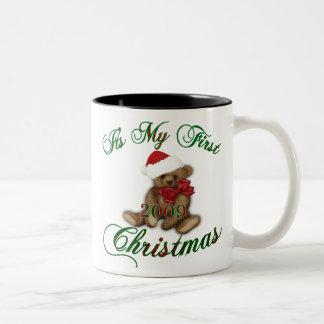 Its My 1st Christmas Two-Tone Coffee Mug
