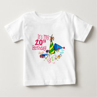 It's My 20th Birthday (Party Hats) Baby T-Shirt