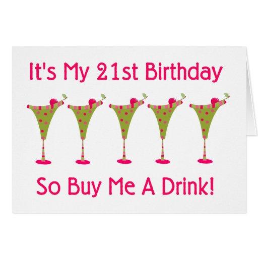 It's My 21st Birthday Card