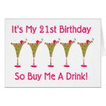It's My 21st Birthday Greeting Card