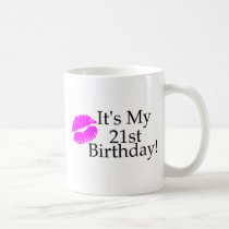 Its My 21st Birthday (Kiss) Coffee Mug