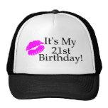 Its My 21st Birthday (Kiss) Mesh Hats