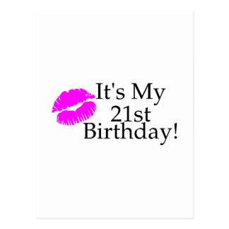 Its My 21st Birthday (Kiss) Postcard