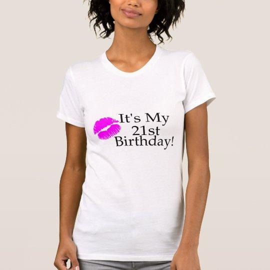 Its My 21st Birthday (Kiss) T-Shirt