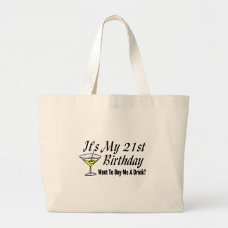 It's My 21st Birthday Large Tote Bag