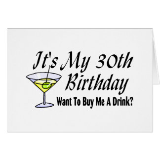 It's My 30th Birthday Card
