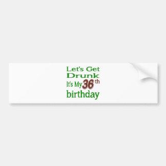 It's My 36th Birthday Car Bumper Sticker
