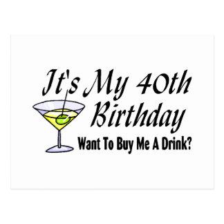 It's My 40th Birthday Post Cards