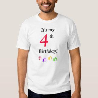 It's my 4th Birthday! Tee Shirt