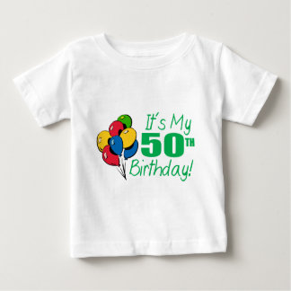 It's My 50th Birthday (Balloons) Baby T-Shirt