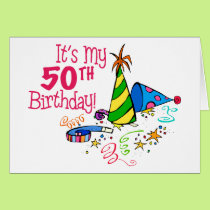 It's My 50th Birthday (Party Hats) Card