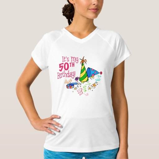 It's My 50th Birthday (Party Hats) T-Shirt