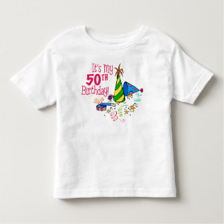 It's My 50th Birthday (Party Hats) Toddler T-shirt