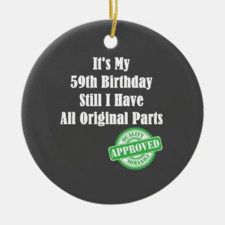 It's My 59th Birthday Ceramic Ornament