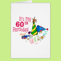 It's My 60th Birthday (Party Hats) Card