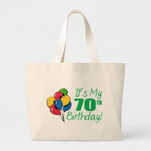 It's My 70th Birthday (Balloons) Bag
