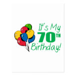 It's My 70th Birthday (Balloons) Post Cards