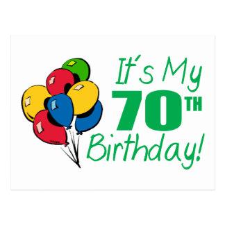 It's My 70th Birthday (Balloons) Postcard