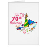 It's My 70th Birthday (Party Hats) Greeting Card
