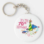 It's My 70th Birthday (Party Hats) Keychains