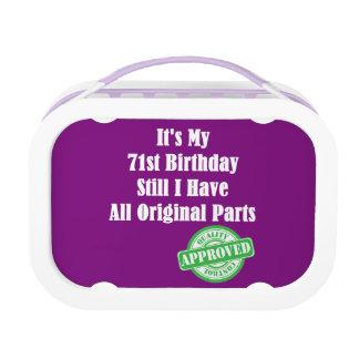It's My 71st Birthday Lunch Box
