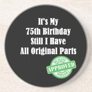 It's My 75th Birthday Drink Coaster