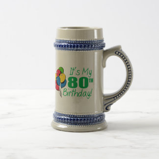 It's My 80th Birthday (Balloons) Beer Stein