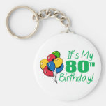 It's My 80th Birthday (Balloons) Key Chains