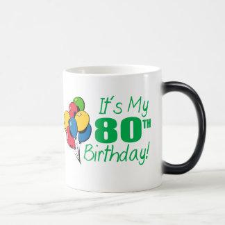 It's My 80th Birthday (Balloons) Mugs