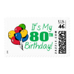 It's My 80th Birthday (Balloons) Stamps