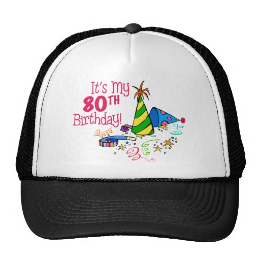 It's My 80th Birthday (Party Hats)