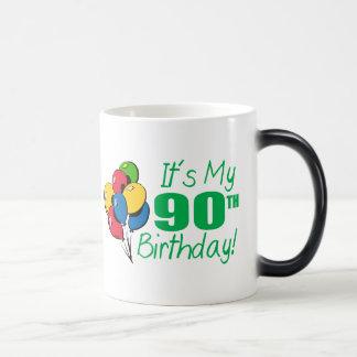 It's My 90th Birthday (Balloons) 11 Oz Magic Heat Color-Changing Coffee Mug