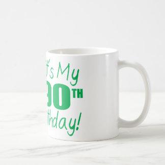It's My 90th Birthday (Balloons) Classic White Coffee Mug