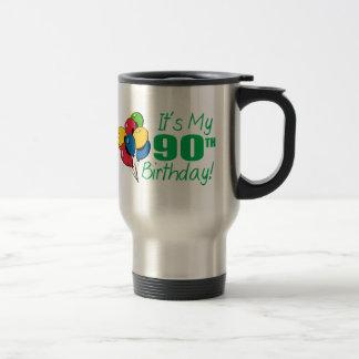 It's My 90th Birthday (Balloons) 15 Oz Stainless Steel Travel Mug