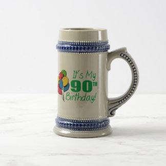 It's My 90th Birthday (Balloons) 18 Oz Beer Stein