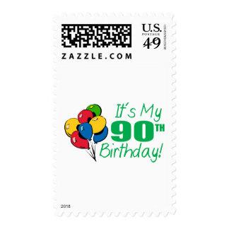 It's My 90th Birthday (Balloons) Stamp